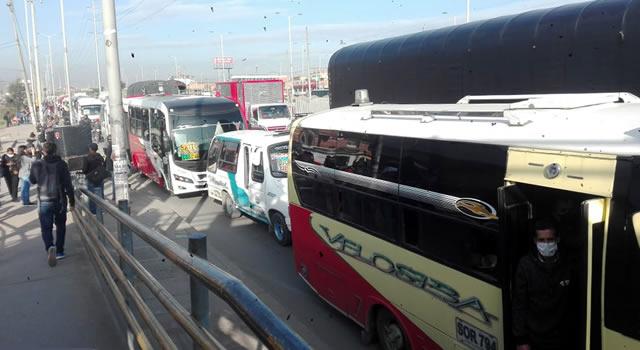 Conductores de Soacha están desesperados por ola de atracos en la autopista Sur