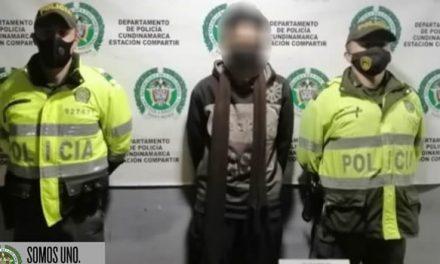 Atracó a una persona con arma de fuego en Soacha y la Policía lo capturó