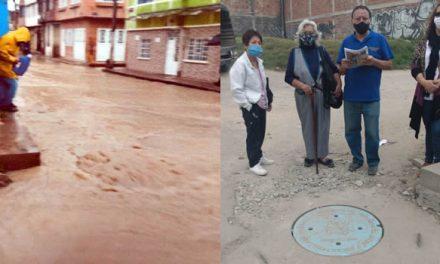 El dilema por la inundación de las calles en un barrio de Soacha, ¿quién tiene la culpa?