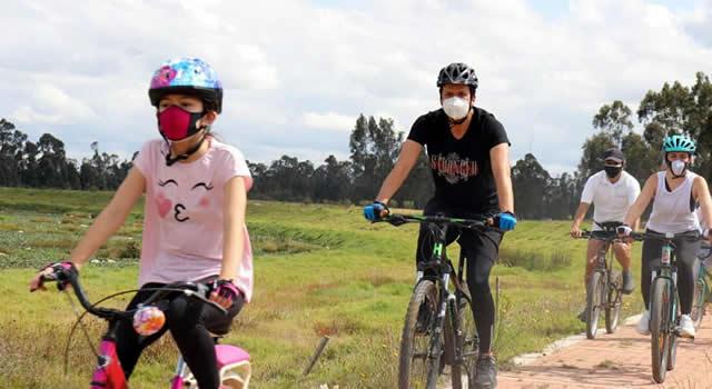 Con recorrido rural se  reactivó la  ´Ciclovida´ en Soacha