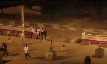 Así se robaron  vallas que protegían el espacio público en un sector de Soacha