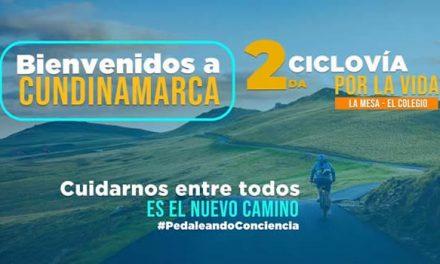 """Este domingo es la segunda """"Ciclo vía por la Vida"""" en Cundinamarca"""