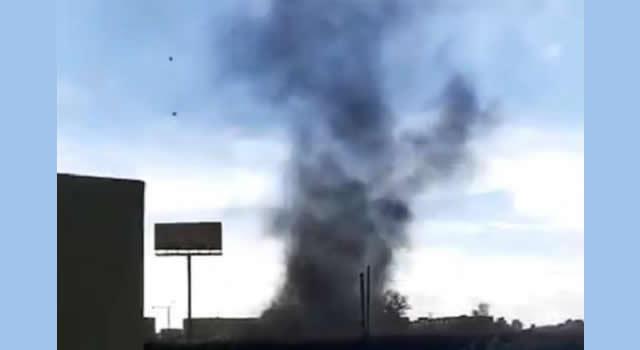 Pánico por fuerte vendaval en Madrid, Cundinamarca