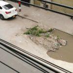 Accidentes y enfermedades por daños en una vía principal de un sector de Soacha