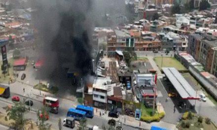 Emergencia en Bogotá por incendio en el barrio Galán