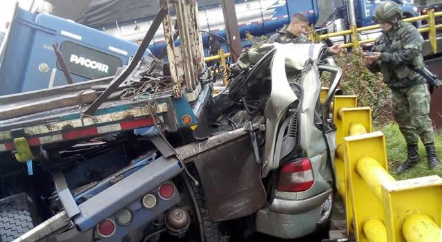 Fatal accidente en el puente del Sisga, Cundinamarca, deja una persona fallecida