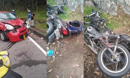 Accidente de tránsito en El Charquito Soacha