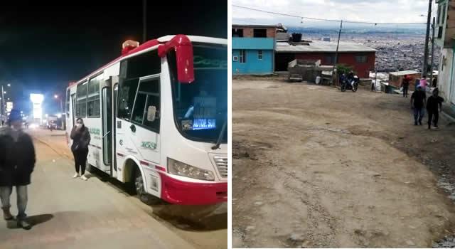 Atracan pasajera en colectivo de Soacha y delincuentes disparan a vehículo