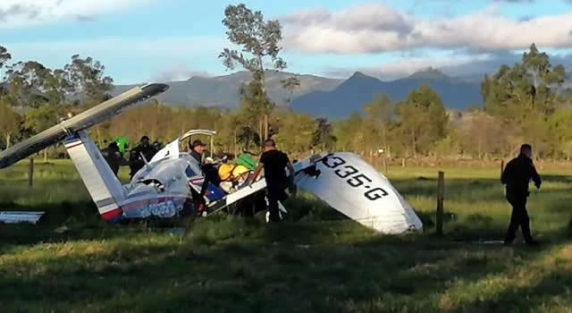 Tres personas muertas y un bebé a salvo deja accidente aéreo en Ubaté, Cundinamarca