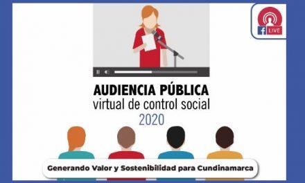 Contraloría de Cundinamarca realiza cuarta audiencia de control social el martes 27 de octubre