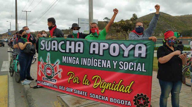 Se retrasa llegada de la minga indígena a Soacha