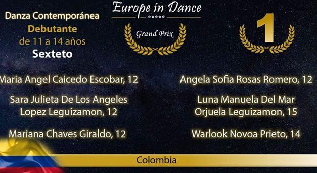 Escuela soachuna de ballet, primer puesto en certamen internacional
