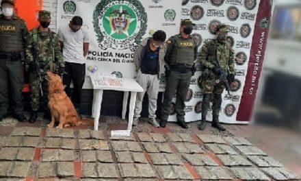 En Chusacá  decomisan 35 kilos de marihuana que se transportaban en un bus intermunicipal