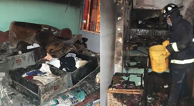Se incendia vivienda en Quintas de la Laguna