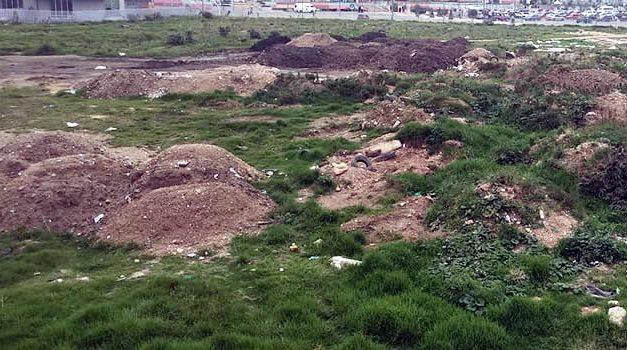 El lote del municipio de Soacha que se llenó de escombros