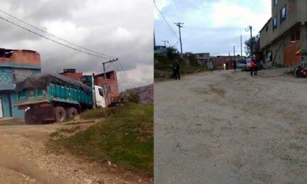 ¿Quién controla las volquetas para que no dañen las vías en Soacha?