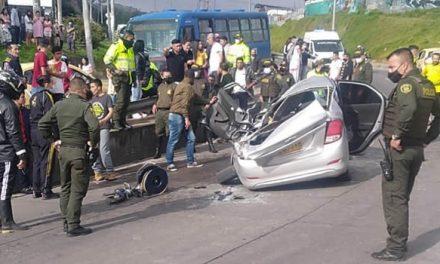 Accidente fatal en el sur de Bogotá, dos muertos y cuatro heridos