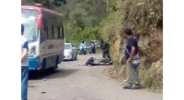 Accidente vial deja motociclista herido en Cundinamarca