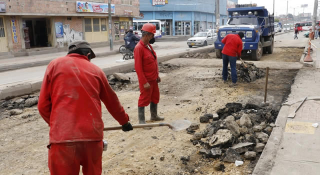 Arreglo de vía 3M de Soacha no incluye reparación total