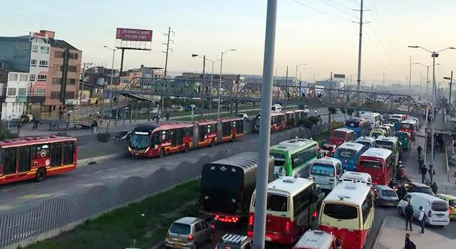 Otro atraco a pasajeros de un colectivo entre Soacha y Bosa