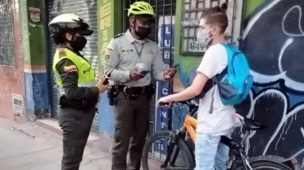 Biciusuarios responden a controles de la Policía en las ciclorutas de Soacha