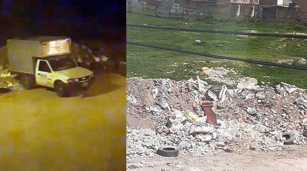 'Pillado' arrojando escombros en un sector de Soacha