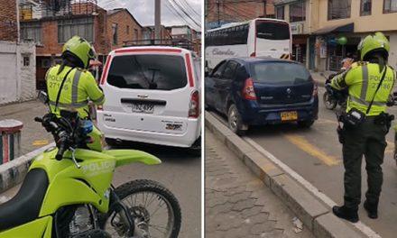 Comparendos para vehículos mal estacionados en Soacha