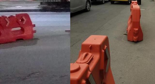 Denuncian robo de maletines plásticos del bicicarril de la Cra. 7 en Soacha