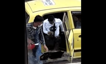 En video queda registrado aparente robo a taxista en Soacha