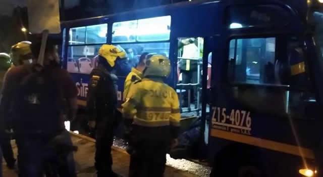 Capturan implicados en robos a buses del SITP en Bogotá