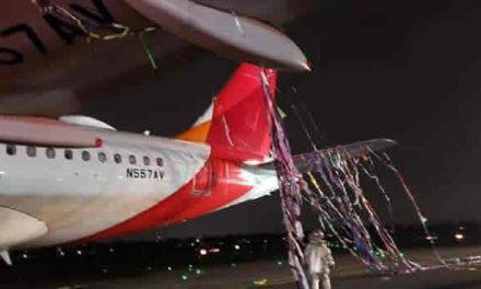 Globo pirotécnico choca con avión en el Dorado y lo obliga a aterrizar de emergencia