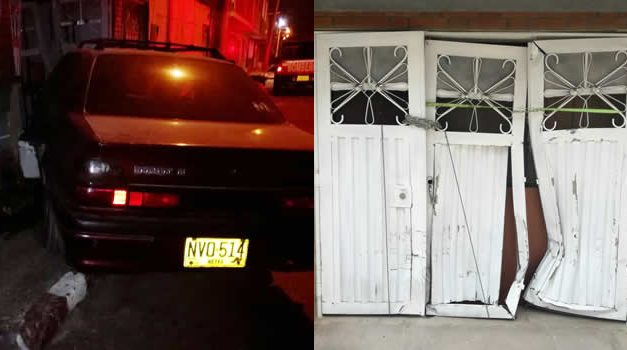 [VIDEO]  Mujer choca su vehículo contra una vivienda en Soacha