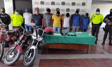 Judicializan 8 delincuentes que hurtaban motocicletas en Cundinamarca