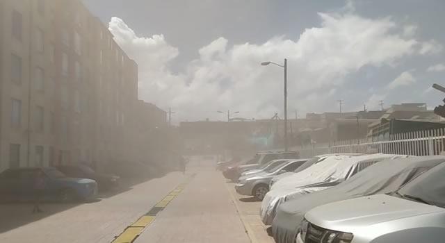 [VIDEO] Nube de polvo cubre conjunto residencial de Soacha