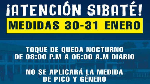 Sibaté suspende Pico y Género este fin de semana