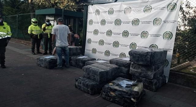Policía incauta una tonelada de marihuana en Bogotá