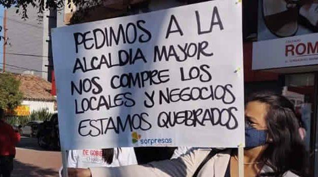Otro día de protestas lideradas por los comerciantes de Bogotá