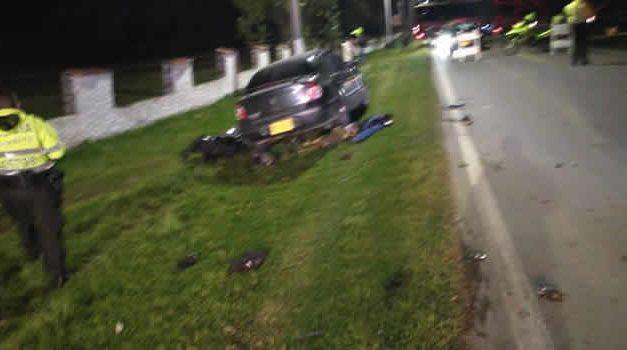 Fatal accidente en la vía a Sibaté