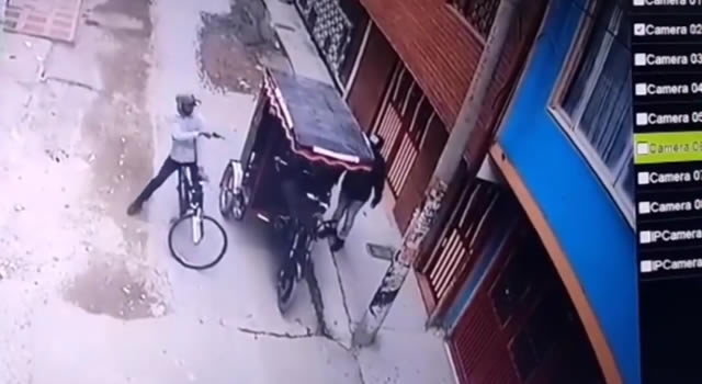 [VIDEO] Triste final del atraco a un bicitaxista en Bosa