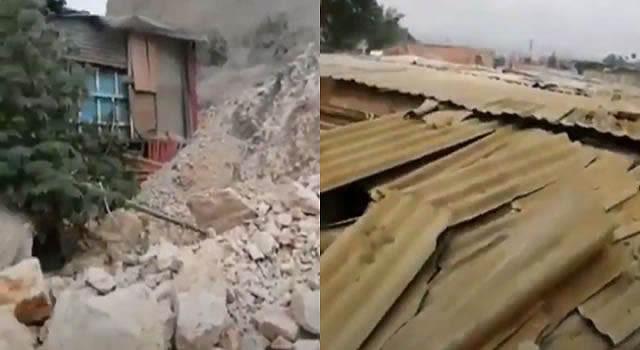 [VIDEO] Montaña amenaza con tapar viviendas en barrio de Soacha