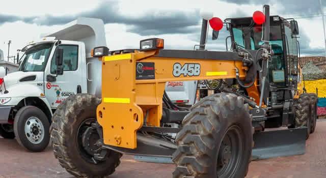 Soacha adquiere maquinaria amarilla por más de $8.600 millones