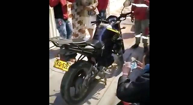 [VIDEO]  En una vivienda familiar recuperan moto robada en Bosa
