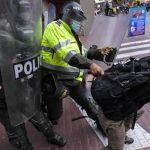 Cuatro heridos durante manifestaciones en Bogotá