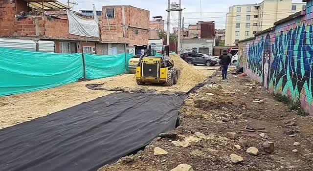 Avanza obra que desembotellará un sector de la comuna dos de Soacha
