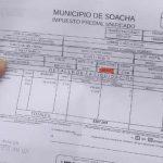 Se definió fecha para entregar recibos del impuesto predial en Soacha