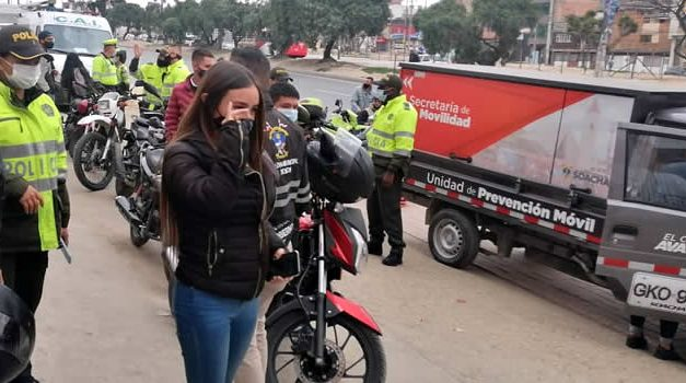 La 'Marcatón' en Soacha también incluye a las motocicletas