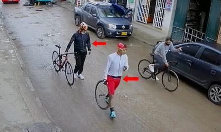 [VIDEO] Revelan video de los 2 hombres que le habrían hurtado la bicicleta a Camila Cagua en Soacha