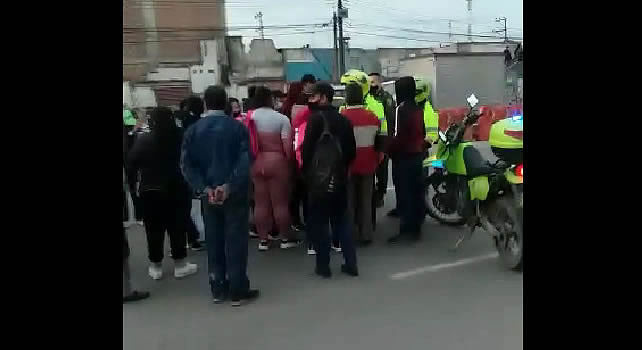 [VIDEO]  Protesta generó caos vehicular en autopista Sur de Soacha