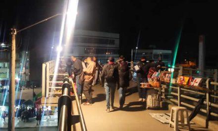 Acción Popular logra iluminar puente peatonal Terreros en Soacha