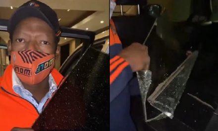 [VIDEO] Delincuentes rompieron vidrio del carro del 'Tino' Asprilla y lo robaron